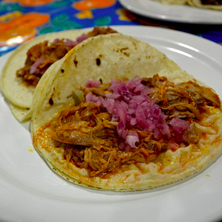 Cochinita Pibil is the order of the day at La Flor de Yucatan, the 40 year old Pico-Union bakery-cum-taqueria. The Mayan specialties that flow out of this smallish space are authentic and delicious.