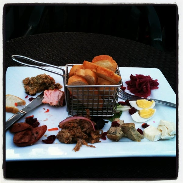 You MUST try the Charcuterie Platter....  With a nice wine, by the lake.... it transports you to a lovely European state of mind....!