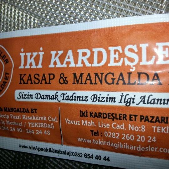 1/27/2013にÜlkü T.がİki Kardeşler Kasap & Mangalda Etで撮った写真