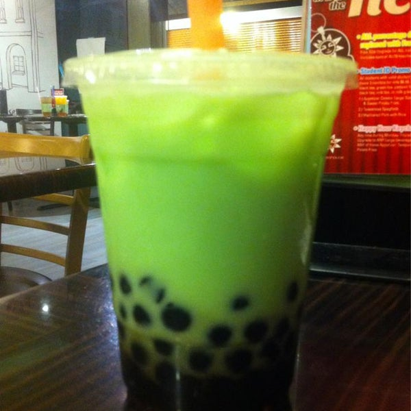Drop by and try our Healthy Honeydew Flavored Tea with Soy Milk and Boba!