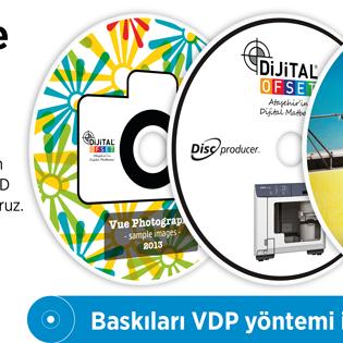 Minimum adet sınırlaması yok. CD/DVD üzerine doğrudan en iyi kalitede 6 renk inkjet baskı. CD/DVD etiketine son.