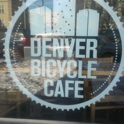 Photo taken at Denver Bicycle Cafe by Kelsey B. on 12/30/2012
