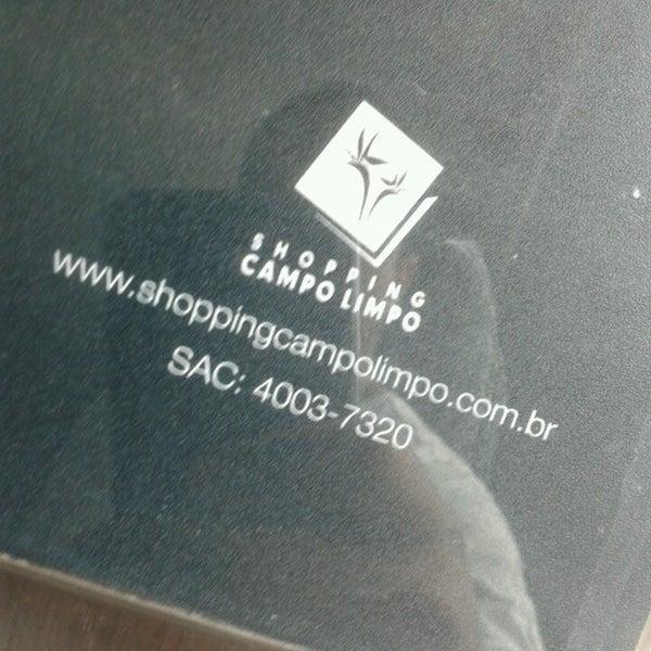 Das Foto wurde bei Shopping Campo Limpo von Paulo A. am 3/23/2013 aufgenommen