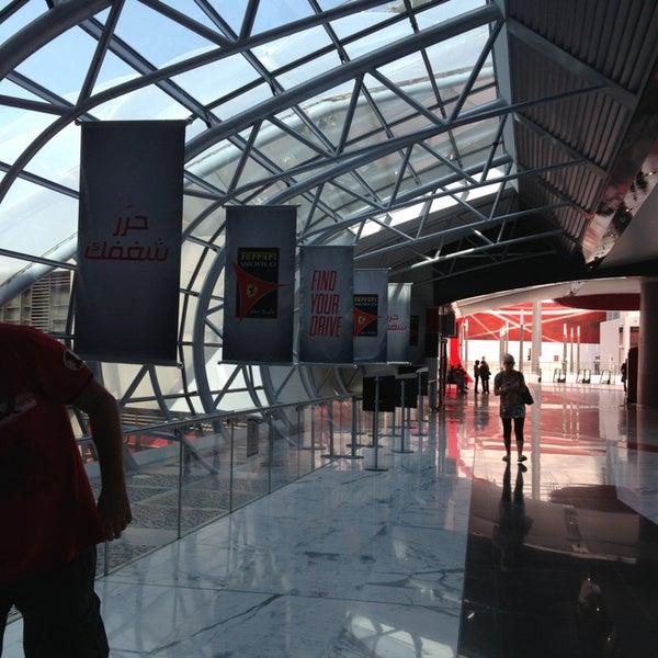 Photo taken at Ferrari World Abu Dhabi by Lei J. on 1/8/2013