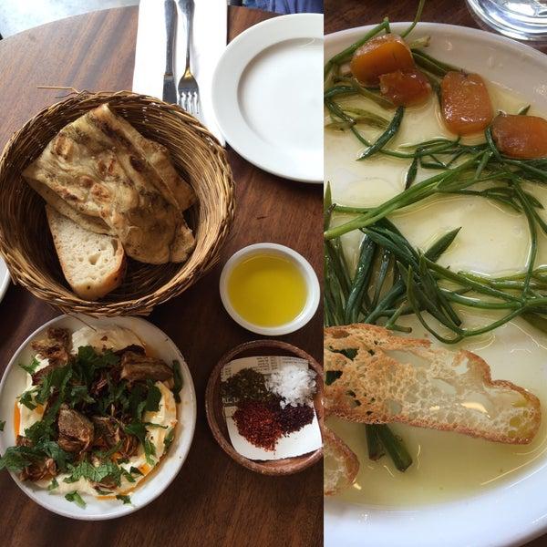 Labne, bottarga, avocado shrimp, salt cod brandada 😱 Share everything. Beautiful space full of light!