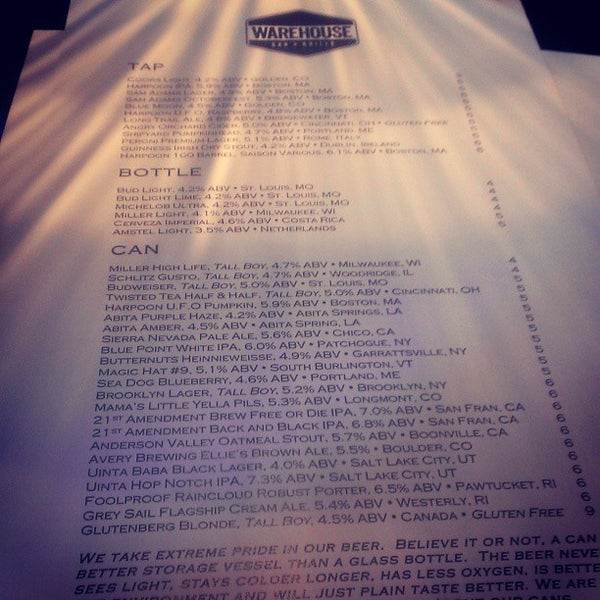 9/20/2013にDavid C.がWarehouse Bar & Grillで撮った写真