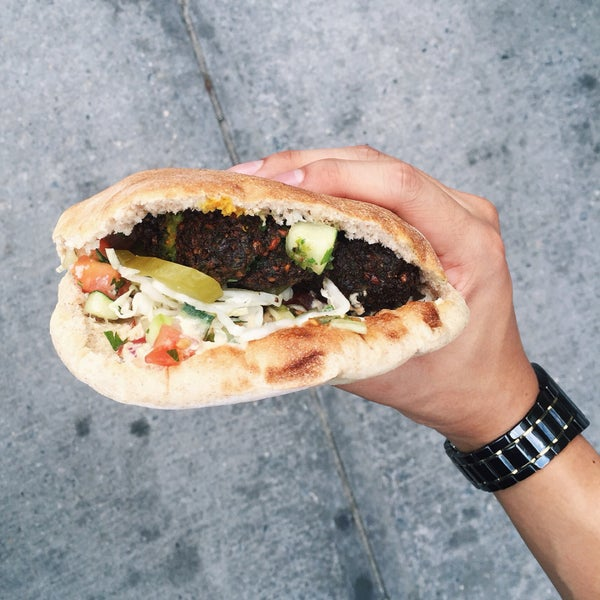 $7 for such an amazing falafel sandwich.