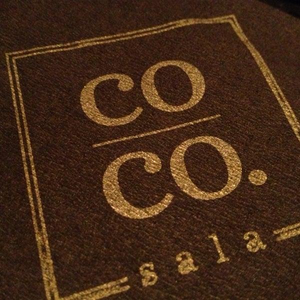 12/28/2012 tarihinde Felicia F.ziyaretçi tarafından Co Co. Sala'de çekilen fotoğraf