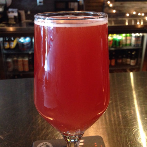 They have some great unique craft beers on tap like this Prairie 3rd Anniversary raspberry farmhouse ale
