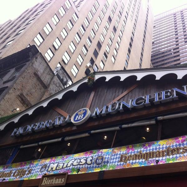 Foto diambil di Hofbräu Bierhaus NYC oleh Megan E. pada 5/8/2013