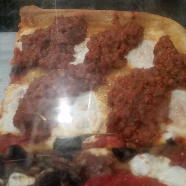 Try either the meat sauce or prosuite square
