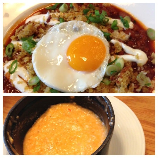 Chili for breakfast? Hell yes! If they've got that special, put it in your belly. Also, don't sleep on their biscuits, breakfast tacos & the pimento cheese grits. All good stuff on this brunch menu.