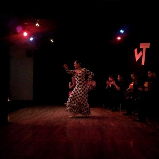 Снимок сделан в Las Tablas Tablao Flamenco пользователем Victor Hugo A. 9/22/2012