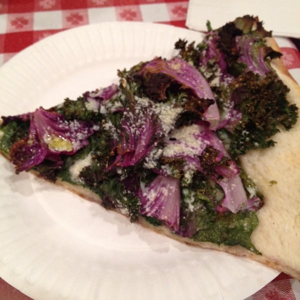 A wide selection of vegetarian options. The spinach and kale pizza is delicious!