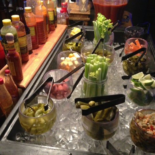 Check out the $20 Bloody Mary buffet.