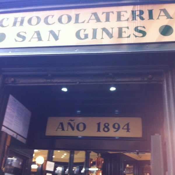 Photo prise au Chocolatería San Ginés par Rafa S. le2/9/2013