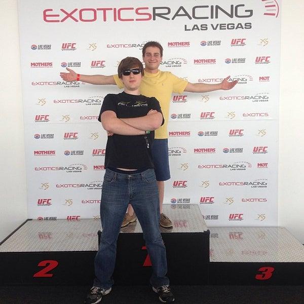 Снимок сделан в Exotics Racing пользователем Jenny V. 5/17/2013