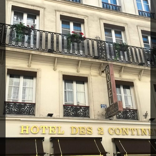 Welcome to Hotel des Deux Continents!