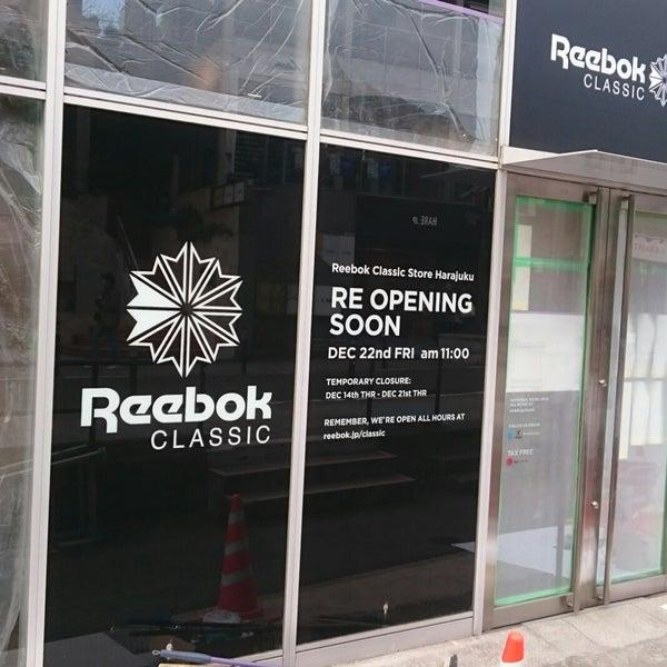 4d23654cdac Photo taken at Reebok CLASSIC Store Harajuku by Yu on 12 20 2017