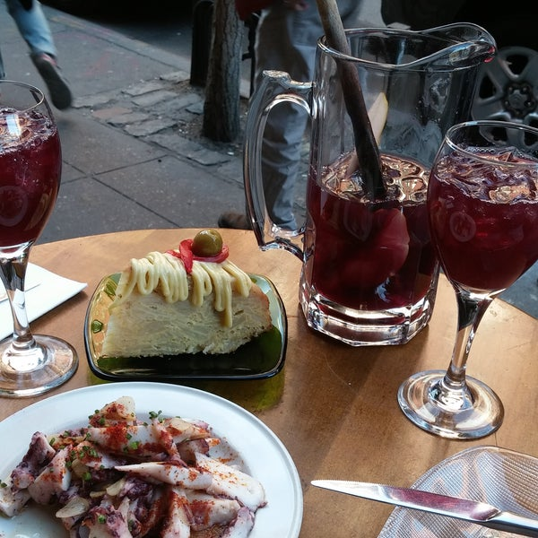 Good place to relax when the weather is good. The octopus with potatoes and Spanish omelette were great. I didn't think the sangria was anything special.