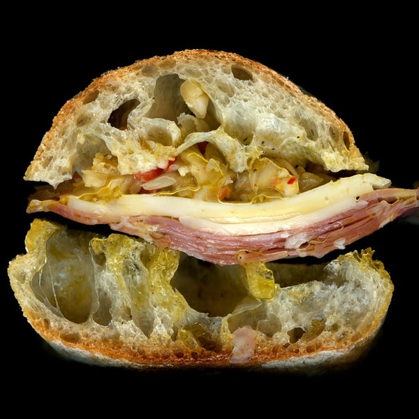 Salami, Provolone, Hot Pickle, On Ciabatta.
