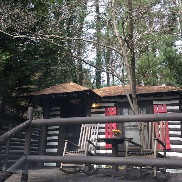 Photo taken at Log Cabin Motor Court by Sarah R. on 11/17/