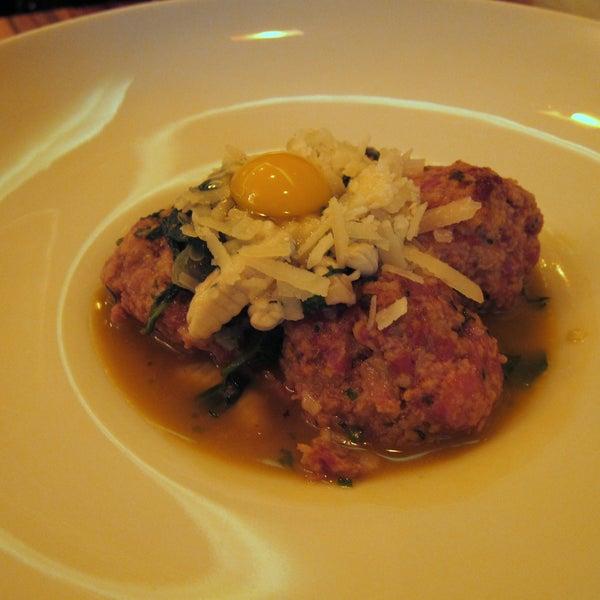 unforgettable spicy duck meatballs, duck breast, and hanger steak