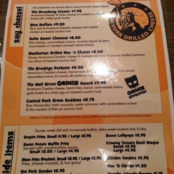 Снимок сделан в New York Grilled Cheese Co. пользователем Nathaniel K. 5/2/2013