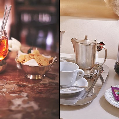 Two new opportunities exclusively on the official website www.napoleon.it - 10% of discount on the bar and restaurant prices. - Tea and coffee making facilities included in your room for free.
