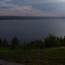 Foto tirada no(a) Auberge La Tourelle du Fjord por Christophe L. em 7/27/2014