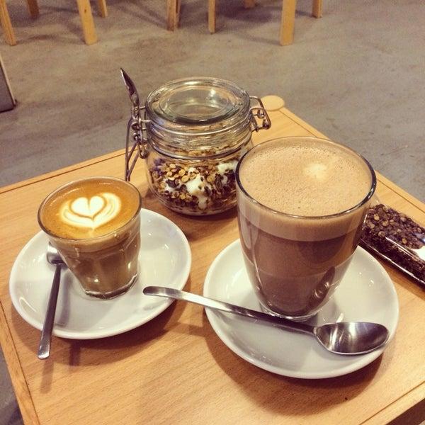 Amazing place! Tasty hot chocolate and muesli:)
