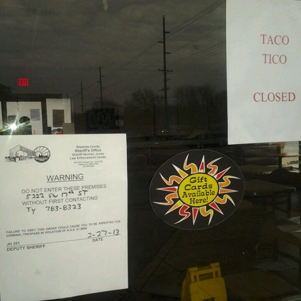 Photo taken at Taco Tico by Denise W. on 3/8/2013