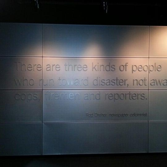 Снимок сделан в Музей журналистики и новостей пользователем Carlos V. 1/23/2013