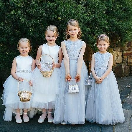 Image result for flower girl dresses in mini treasure kids