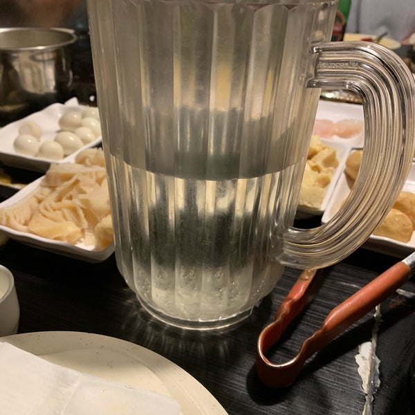 We got a pitcher (think: typically used to serve water at a pizza parlor) filled to the brim with sake.