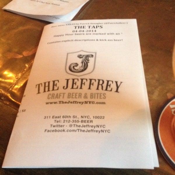 Foto tomada en The Jeffrey Craft Beer & Bites por JetzNY el 4/4/2014
