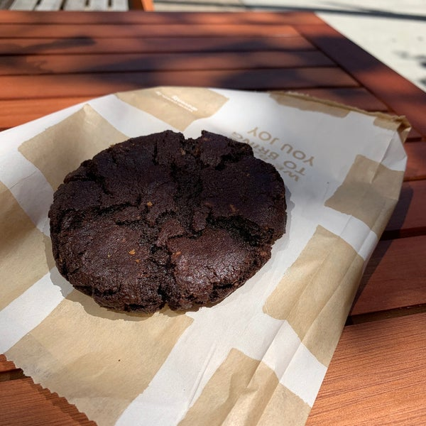Hot chocolate cookie is gluten-free and might be the best dang cookie I've ever eaten.