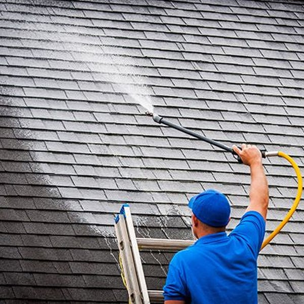 Roof gutter cleaning cost door knocker with viewer