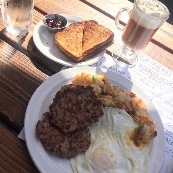 Homemade sausage eggs & potatoes w/toast