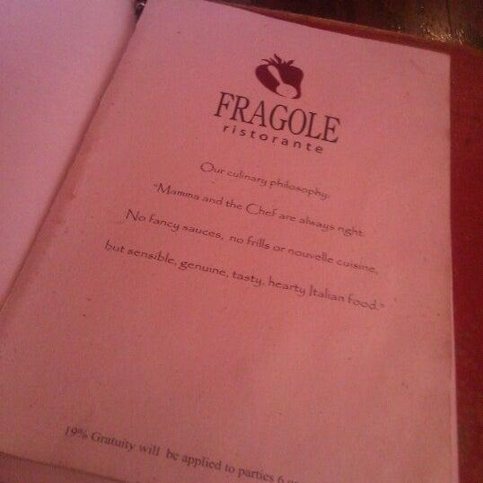 10/6/2012 tarihinde Scottie R.ziyaretçi tarafından Fragole'de çekilen fotoğraf