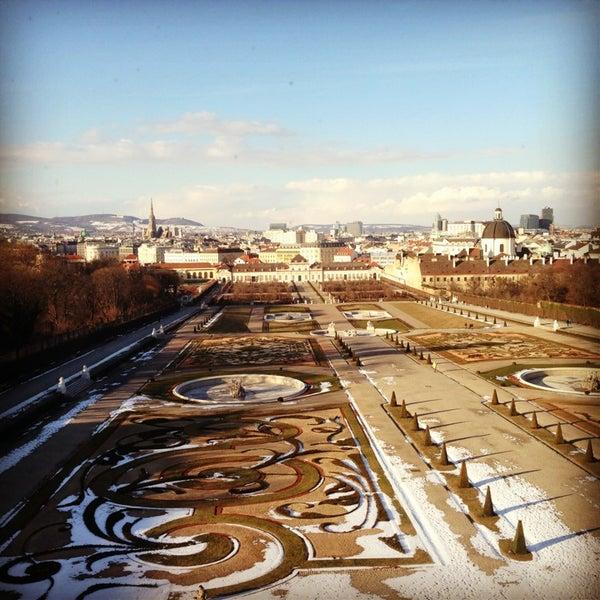 2/20/2013 tarihinde Maria V.ziyaretçi tarafından Oberes Belvedere'de çekilen fotoğraf