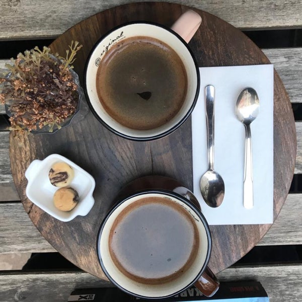 Çaylar lezzetli ama bu sefer filtre kahve tercih ettik..