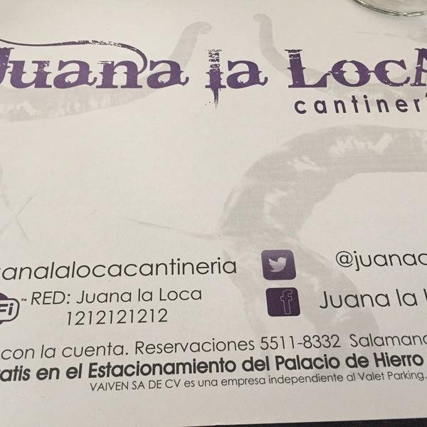 8/1/2016にJadira B.がJuana la Loca -Cantineriaで撮った写真