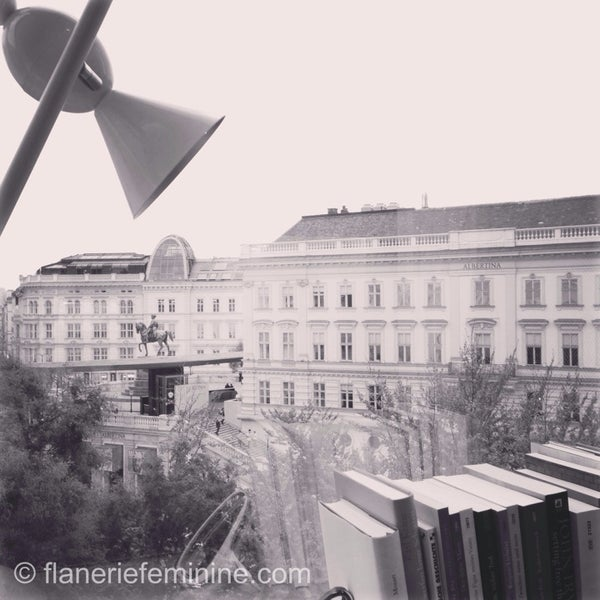 View of the Albertina Museum from my room on the 6th floor of The Guest House Vienna.