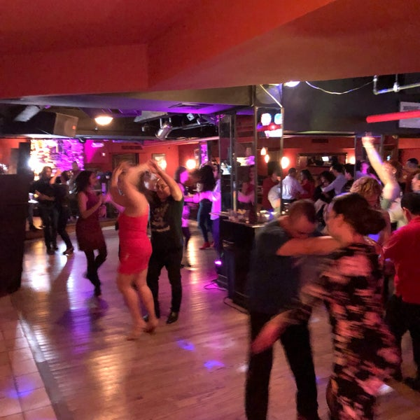 salsa and bachata dance parties in the club downstairs