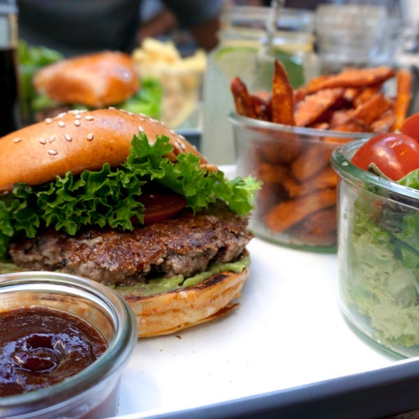 Love the burgers! Especially to have them paired with sweet potato fries! And it is a nice place to sit inside and outside!
