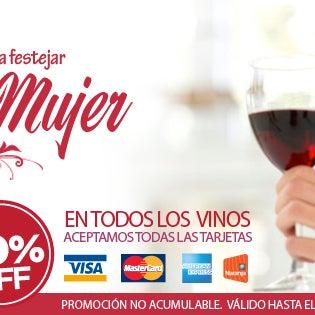 Porque no basta un dia para celebrar, festejamos el mes de la mujer. Aprovechá un 30% en todos los vinos.