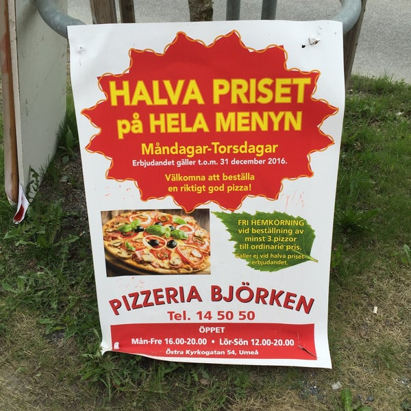 pizzeria björken umeå