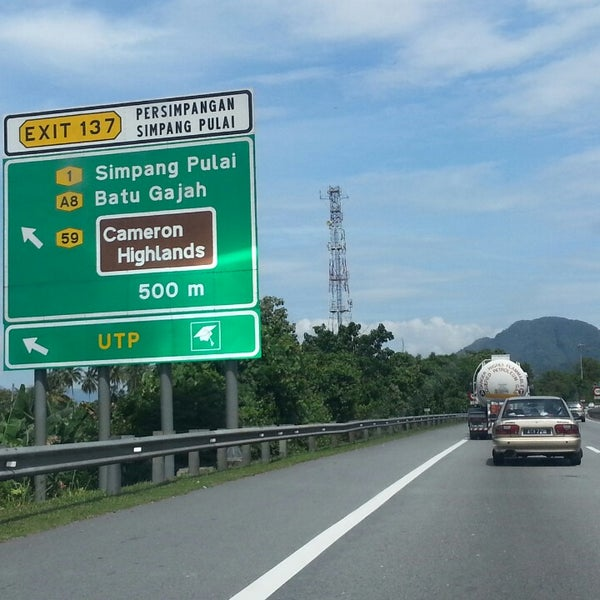 Simpang Pulai Exit To Cameron Highland