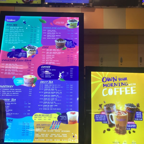 Tealive Bubble Tea Shop In Taiping
